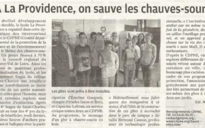 Avec les élèves de La Providence des élèves de Saint-Charles aussi sauvent  les chauves-souris.