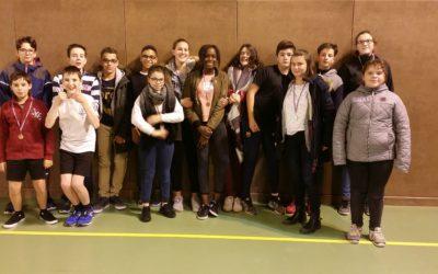 Départemental de tennis de table – 5 médailles pour Saint-Charles